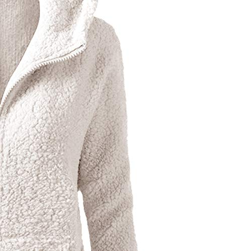Veste Zippé Sweat Blanc Femme Polaire Hiver Automne shirt Chaud Manteau À Vertvie Capuche Hoodie qtI5wI