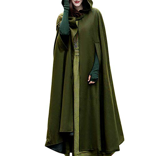 Leoy88 Women Trench Coat Open Front Cardigan Jacket Coat Cape Cloak Poncho Plus