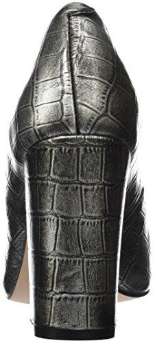 Donna Y1 Silver 1 Giudecca Scarpe Black Tacco Jy16s8 Argento And Chiusa Punta col BB0yz7q