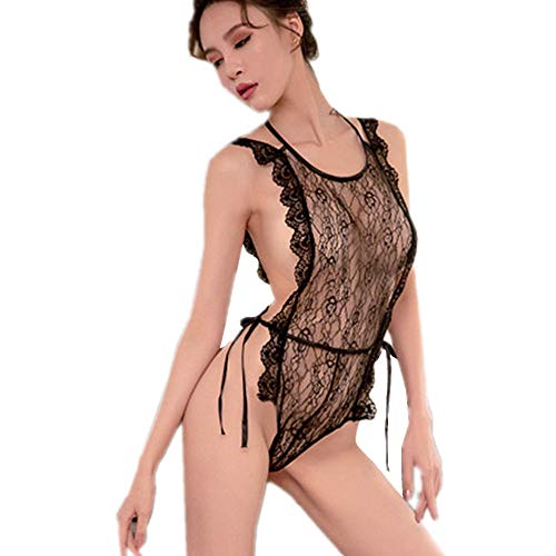 b8d89acc8 YOMORIO Strappy Lace Teddy Lingerie for Women Vintage Floral Babydoll Plus  Size Backless Sleepwear for Sex