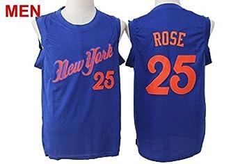 best loved 376ad 6b7f9 New York Knicks Tee Top #25 Derrick Rose Christmas Jersey ...