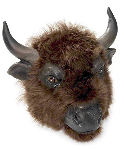 Forum Novelties Men's Buffalo Latex Mask, Brown, One Size