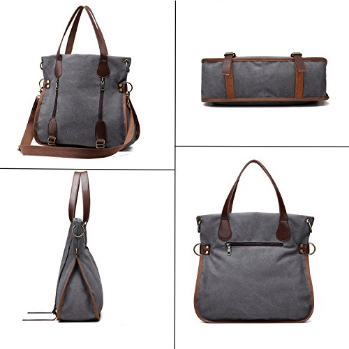 Shoulder Bags Hobo Women Casual For Tote Bags 3 Ways Work Handbag Travel Canvas Bags Purse Bag Burgundy Bags Shopping pqYvtwZw
