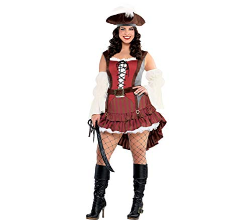 (Amscan Adult Castaway Pirate Costume - Plus XXL)
