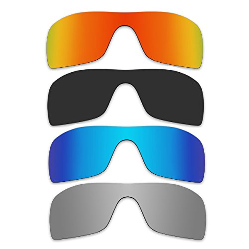 ACOMPATIBLE 4 Pair Replacement Polarized Lenses for Oakley Batwolf Sunglasses Pack P1