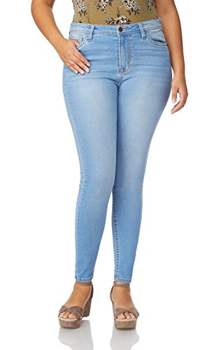WallFlower Plus Size High Rise Irresistible Denim Jegging in Eden, 18 - Size Plus Jeans Junior
