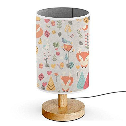ArtLights - Wood Base Decoration Desk / Table / Bedside Lamp [ Autumn Forest ]