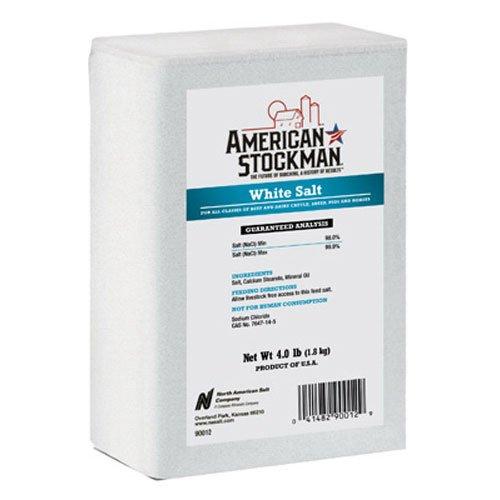 North American Salt 90012 White Brick Pet Nutritional Supplement  4 Pound