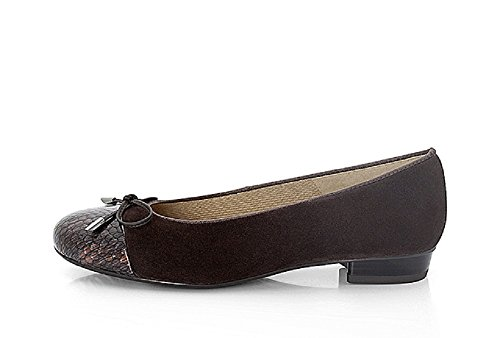 33760 Women's Ballerina Bari 17 Ara Brown 12 Court Shoes Ara qwffE4