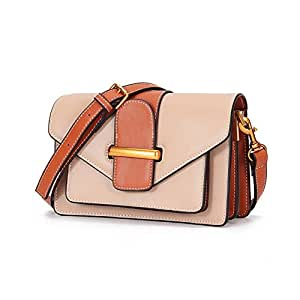 FengheYQ New Shoulder Bag Trend Casual Fashion Ladies Messenger Bag Small Handbag Purse Wallet Size:19 * 8 * 14cm (Color : Beige)