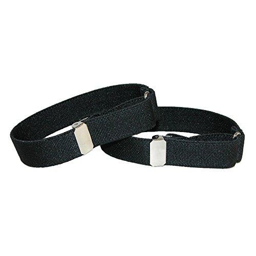 CTM Elastic .75 Inch Wide Solid Color Adjustable Sleeve Garter, Black]()