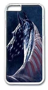 Patriotic Horse Head Polycarbonate Hard Case Cover for iphone 6 plus 5.5inch Transparent