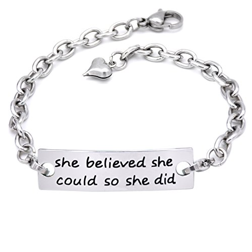 O.RIYA She She believed she could so she - Make Metal Bracelets Shopping Results