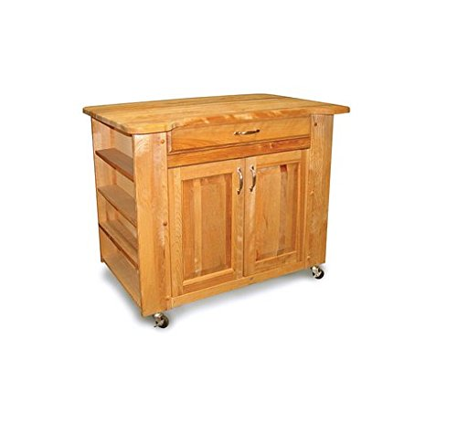 Deep Storage Kitchen Island with Contour Top