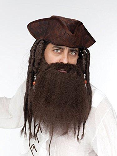 [Fun World Crimped Beard Brown Costume Adult Mens] (Mens Lumberjack Costumes)