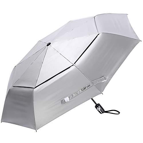 G4Free UPF 50+ UV Protection Travel Umbrella 46 inch Windproof Silver Coating Sun Blocking Umbrella (46inch)