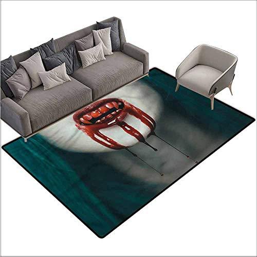 Non-Slip Bath Hotel Mats Vampire,Bloody Teeth Horrifying 80