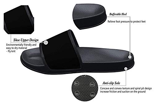 Qujki Kids' Penguin Family Love Beach Sandal Non-Slip Bath Slipper Black by Qujki (Image #1)