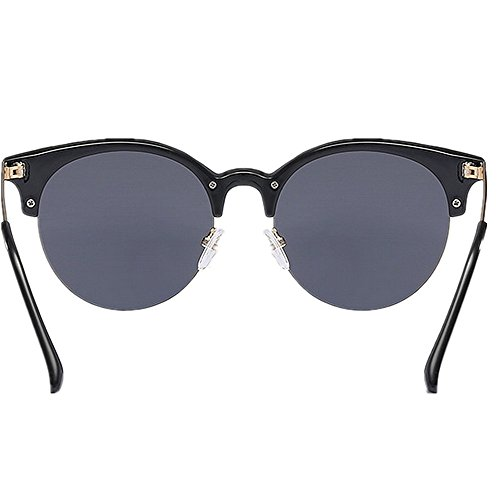 Vintage Soleil Couleur Lunettes Black Femmes Petites Mode Soleil la de de Hommes Dames à Lunettes Black Rondes Retro Yxsd aqvwd6v