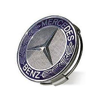 Mercedes benz blue classic logo wheel center for Mercedes benz hat amazon