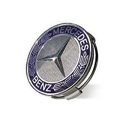 Mercedes benz blue classic logo wheel center cap get for Center caps for mercedes benz wheels