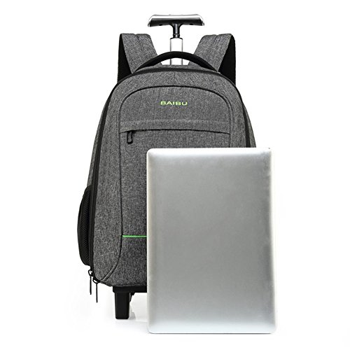 WDGT 2 Runden Trolley Tasche Business Laptop Rucksack Flying Approved Leichte wasserdichte Reise Trolley Tasche Laptop Roller Bag Grey 1U4anuwlZ