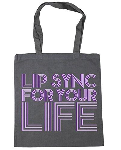 Tote for Beach sync Lip 10 42cm your Gym life HippoWarehouse Shopping Grey Bag Graphite x38cm litres wHSXTq