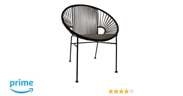 Amazon.com : Innit Designs Concha Chair, Black Weave On Black Frame : Patio  Lounge Chairs : Garden U0026 Outdoor