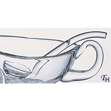 Badash Crystal Mouth Blown Lead-free 6 Inch Crystal Gravy or Sauce Ladle