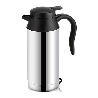750ml Auto Wasserkocher Edelstahl 12V Zigarettenanzünder Reisewasserkocher, Elektrischer Wasserkocher für Wasser Kaffee…