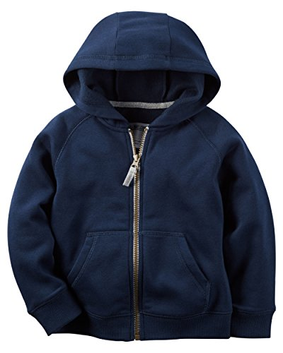 (Carters Boys Classic Navy Fleece Zip-Up Hoodie with Pockets (3M))