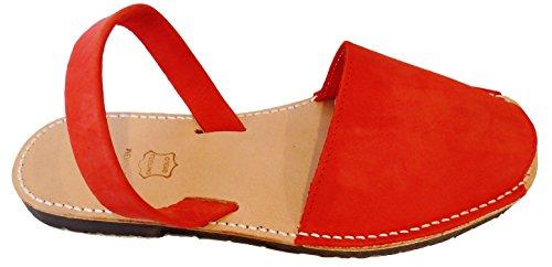 Sizes Nobuck Big Abarcas Menorquinas Albarcas Rojo Menorcan Avarcas Sandals wIqzSxng7