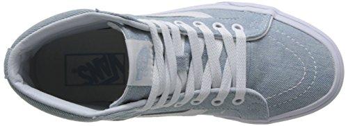 Baby Sk8 Unisex Leather Blue Trainers Denim Reissue Vans Adults' hi 8Oxd6P