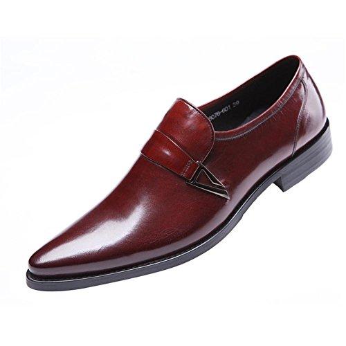 Hombres Cuero Zapatos Puntiagudo Dedo del pie Oxford Encajes Formal Boda Negocio Negro marrón Oficina Trabajo Fiesta Wine Red