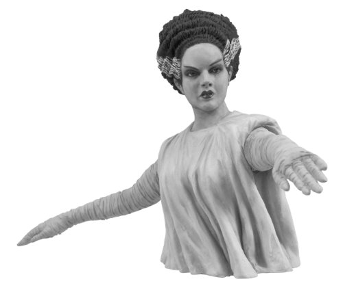 Diamond Select Toys Universal Monsters: Bride of Frankenstein Black and White Bust Bank