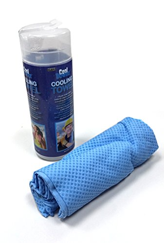 - Cool Downz Cooling Towel, Blue, 13 x 29-Inch