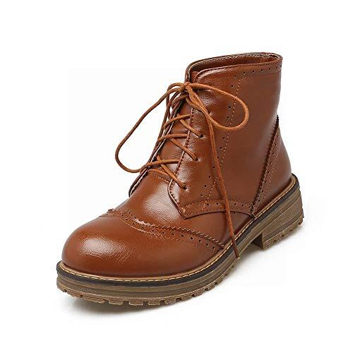 Martin Inglesi Stringate Equitazione Stivali stivali stivali Da Donna Wsr Piatte Caldi 38 Donna marrone scarpe Autunnali Retrò Alte Y0wg1