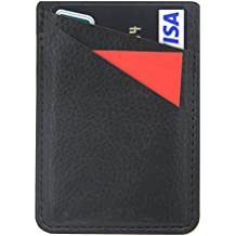 """Card Holder For Back Of Phone-Self Adhesive Stick On Credit Card Wallet Case Fit for iPhone Samsung Galaxy Android Smartphones( 4.7"""" Phone Above) (Black)"""
