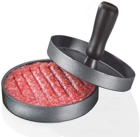 K/üchenprofi 1066663012 pressa per hamburger Nero Grigio Alluminio