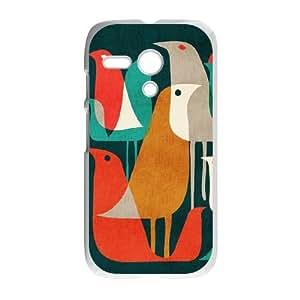 Motorola G Cell Phone Case White Flock of Birds SH3036649