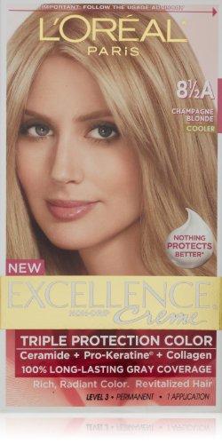 L'Oréal Paris Excellence Crème Pro-Kératine avec Complex, Champagne Blonde 8.5A