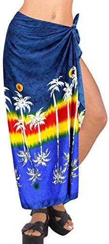 Spiaggia Donne Pollici Navy LA LEELA Morbido Fino Surf Likre Barca 78x39 Costume Blu v508 Coprire da Sarong Bagno wBXCqAP