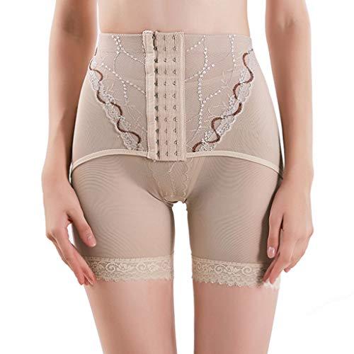 AmyDong Women High Waist Body Shaper Panty Tummy Control Thigh Slimmer Waist Cincher Shapewear Khaki