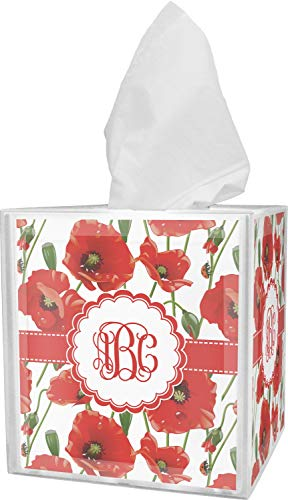 RNK Shops Poppies Tissue Box Cover (Personalized) from RNK Shops