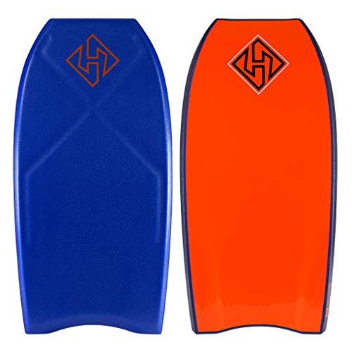 Hubboards Houston PE Deluxe Bodyboard - Blue/Dark Blue/Orange - 41.5