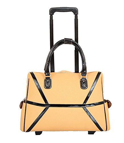 Mellow World Fashion Daffodil Laptop Roller Bag, Khaki, One Size