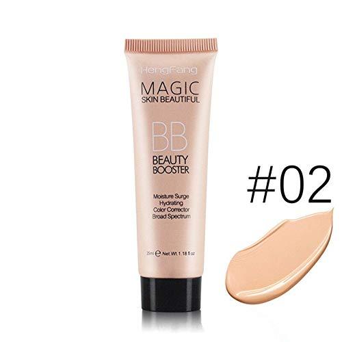 (EDTara BB Cream, Face Sun Block Waterproof Cosmetics 35ml Mineral Face Foundation BB Cream Liquid Base Smoothing Makeup 02 Natural Color)