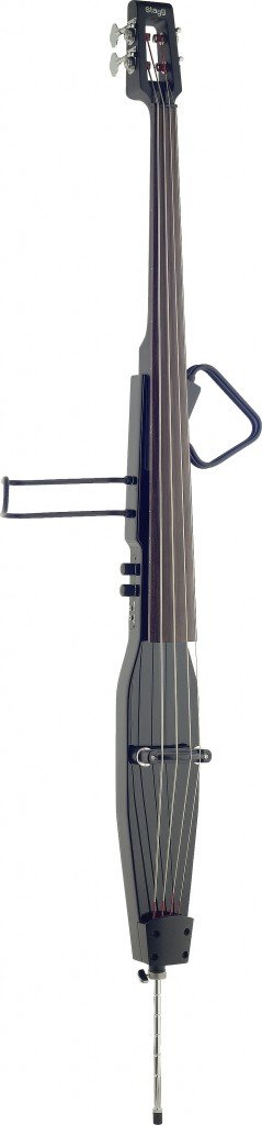 Stagg EDB-3/4RDL BK Deluxe 3/4 Size Electric Double Bass with Gigbag - Black