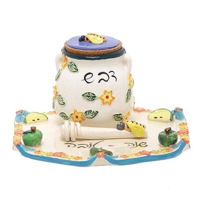 Rosh Hashanah Ceramic Honey Set HN34