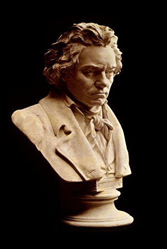 Bust of Ludwig van Beethoven Photo Art Great Composer Pianist Poster Artwork Photos 12x18 Beethoven Ludwig Van Bust